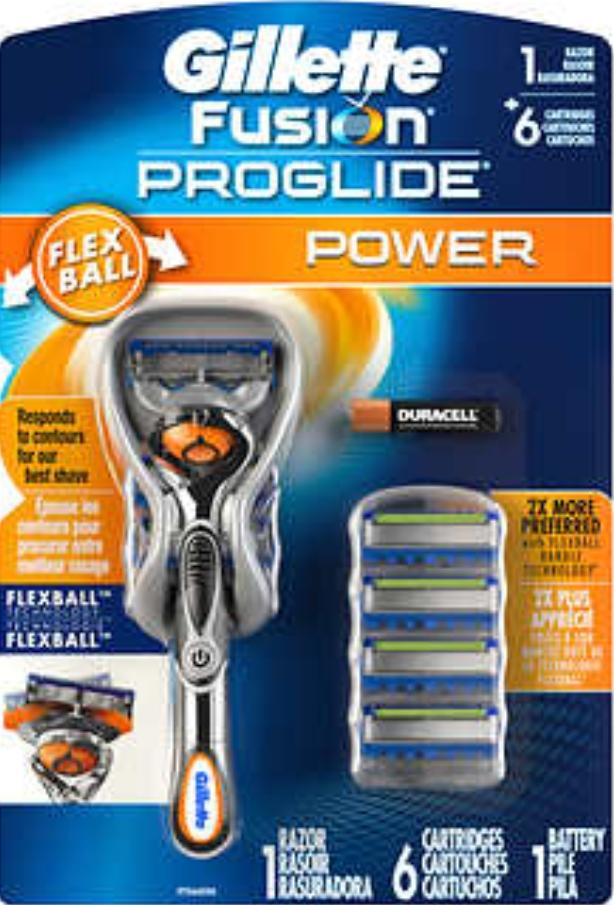 Gillette Fusion ProGlide Power Razor with 6 Cartridges -  $14.97 @Costco