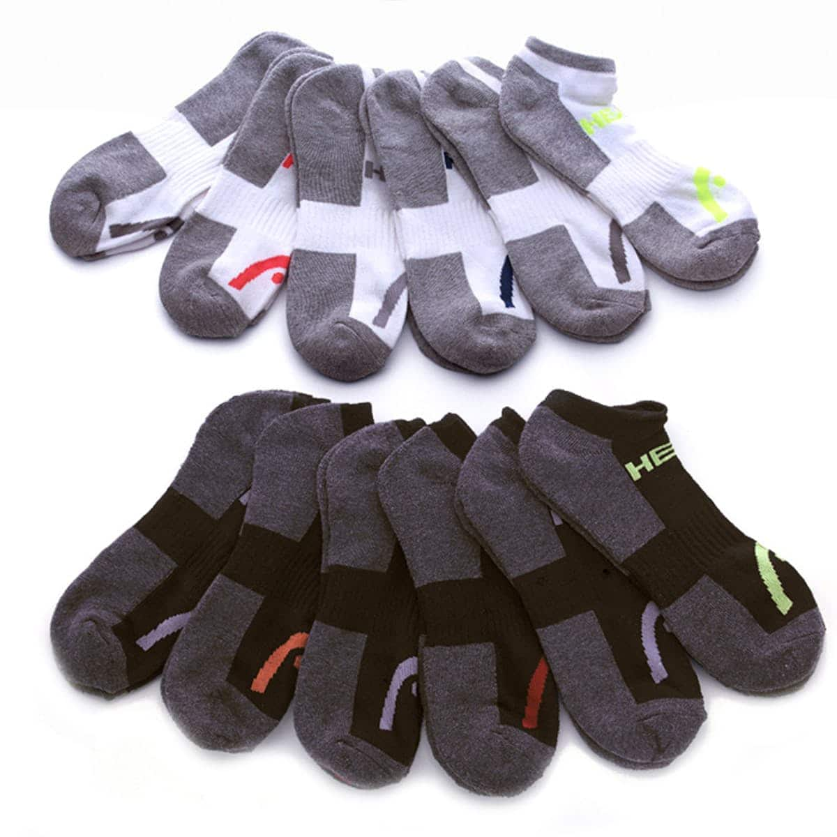 10-Pairs HEAD Men's Moisture-Wicking Socks for $13.99 w/ free shipping