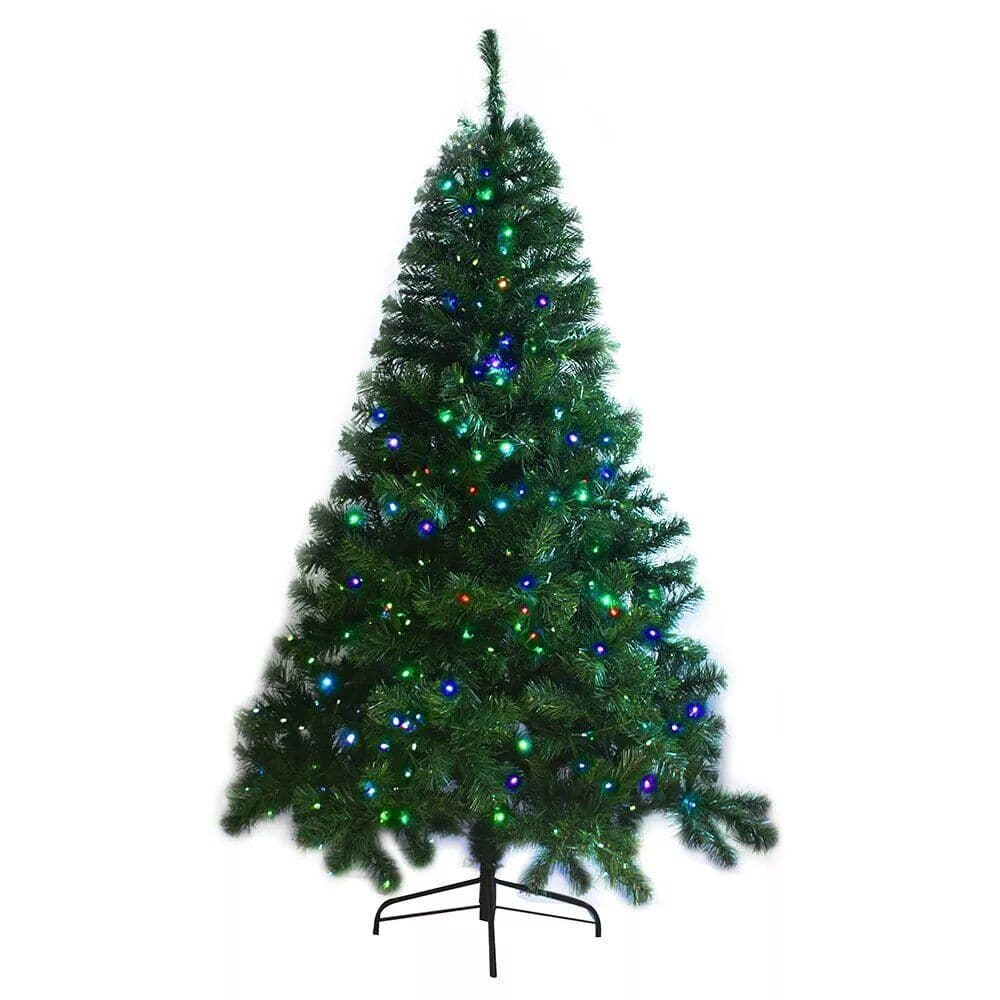 Large Pre-Lit 6ft Artificial Multi-color Lights Christmas