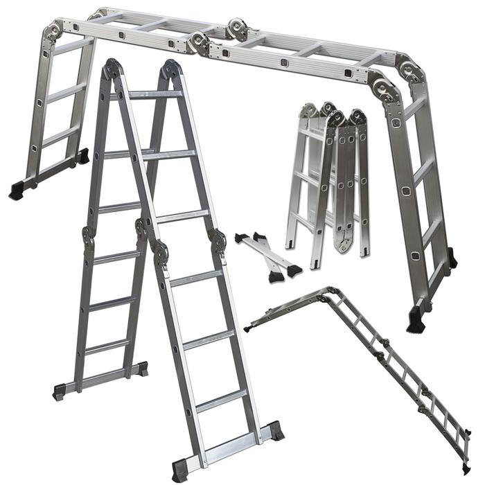 OxGord Heavy Duty Aluminum 12.5 ft Folding Ladder for $64.99 w/ free shipping on Tanga