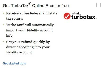 TurboTax Premier free for some Fidelity customers (Premium Services