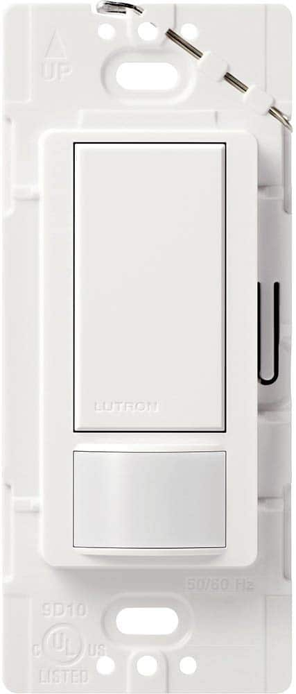 Lutron Maestro Motion Sensor Switch, No Neutral Required, 250 Watts, Single-Pole, MS-OPS2-WH, White. $14.99