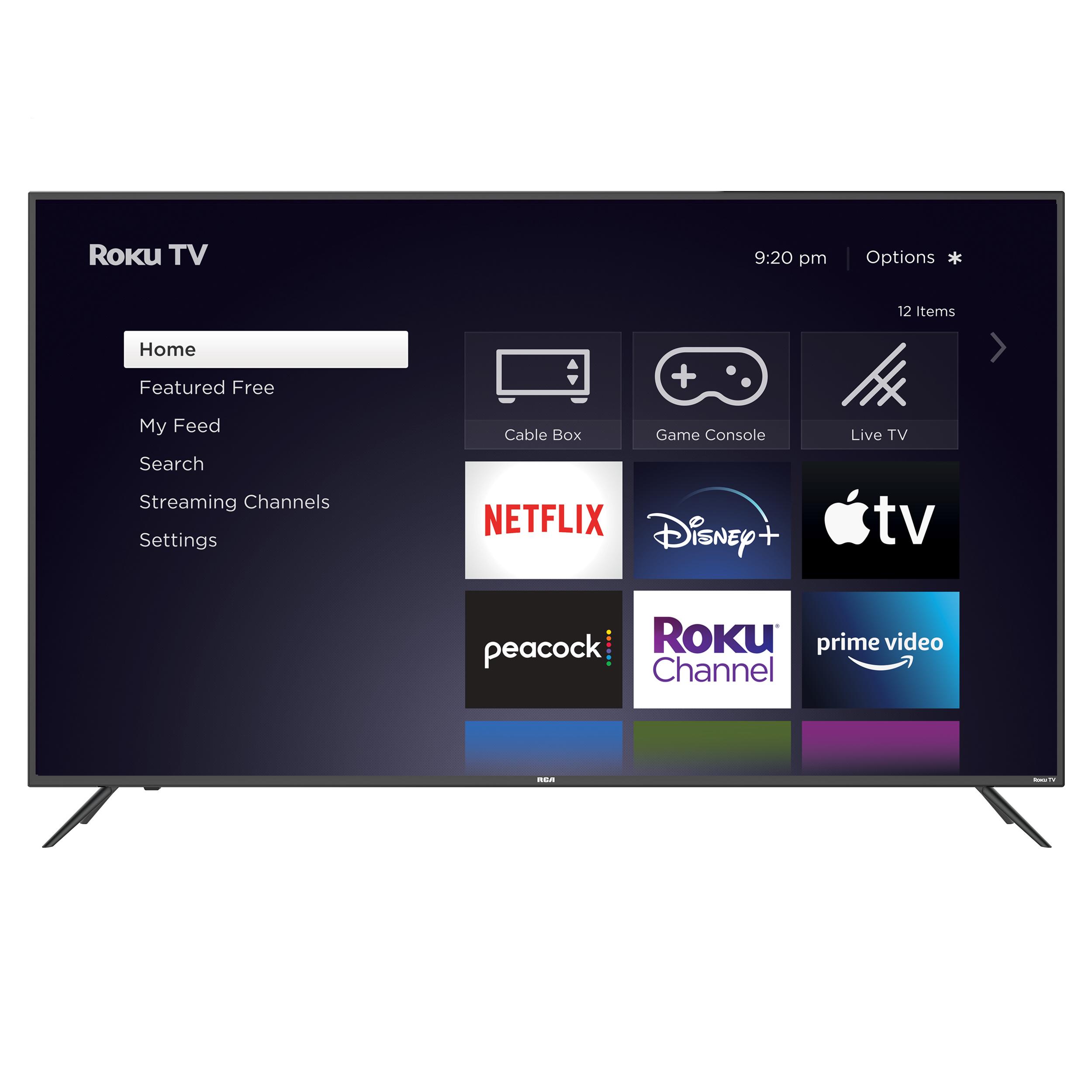 "RCA Roku, QLED 65"" Class 4K UHD Smart TV, RTRQ6522-US, Black - Walmart.com $450"