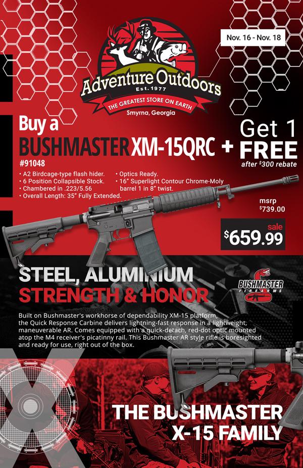 BOGO on AR15's - Bushmaster XM-15 QRC - After Rebate $659.99