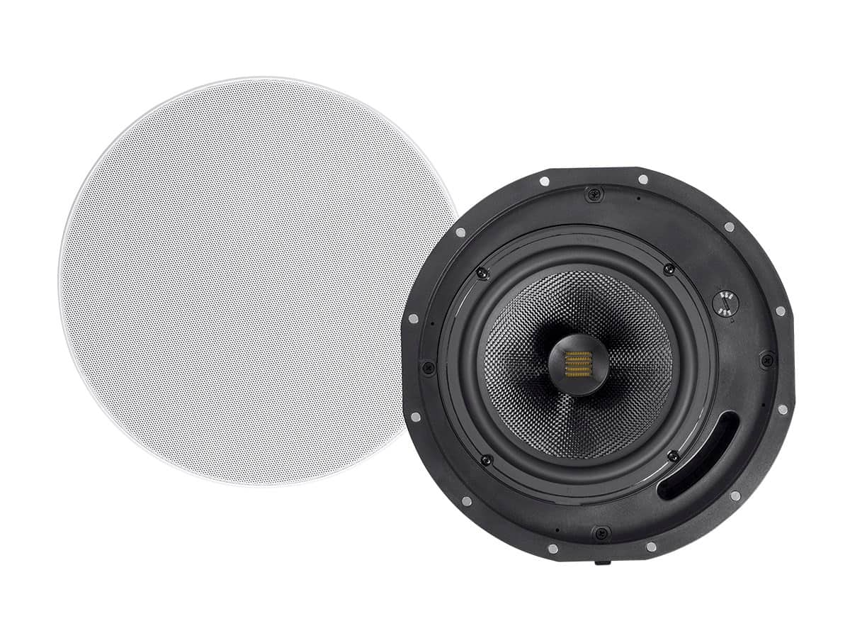 Monoprice Amber Ceiling Speakers 8 Inch 2 Way Carbon Fiber With
