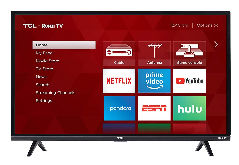TCL 32S327 32-Inch 1080p Roku Smart LED TV (2018 Model) $149.99