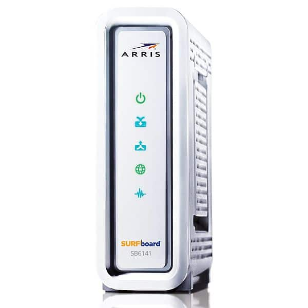 ARRIS SurfBoard SB6141 DOCSIS 3.0 Cable Modem (Certified Refurbished) $29.99  (NEW NOW $45) @ Amazon