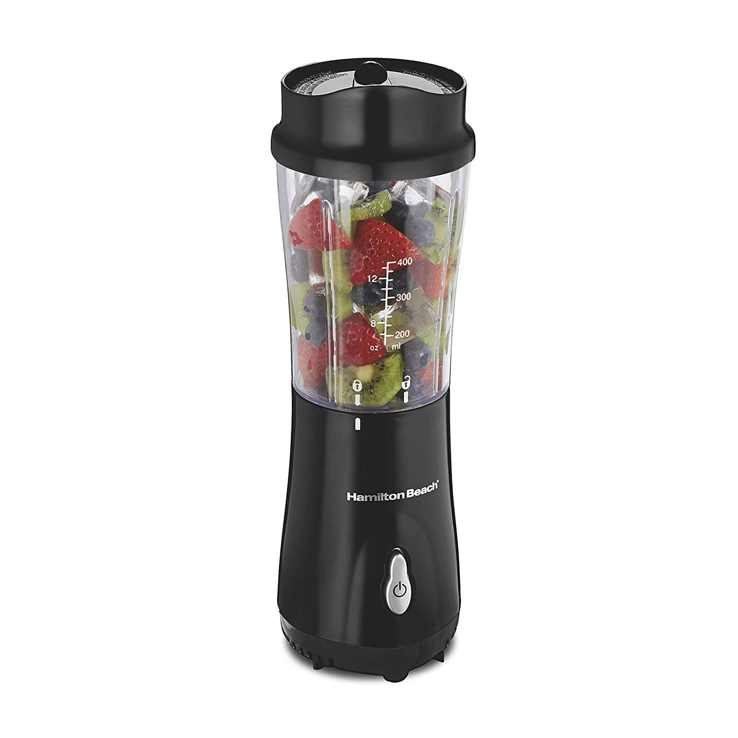Hamilton Beach Personal Blender for Shakes and Smoothies with 14oz Travel Cup and Lid, Black (51101AV) $15.87