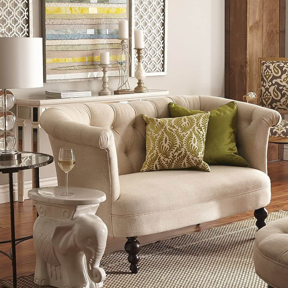 Colette Collection Flax Beige Loveseat $649.99 + fs