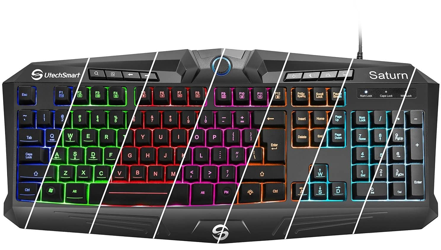 Saturn RGB Visual Effect Wired Gaming Keyboard with Rainbow LED Backlit $29.99 + fs