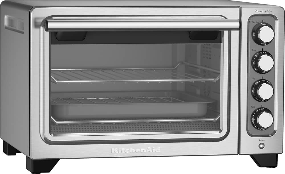 KitchenAid - KCO253CU Convection Toaster/Pizza Oven - Contour silver $89.99