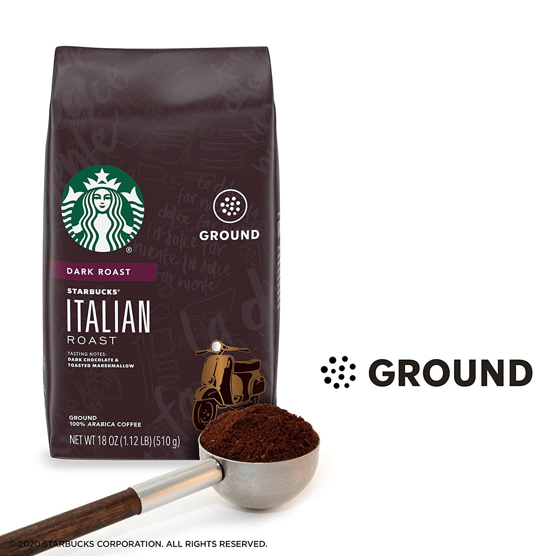 Starbucks Dark Roast Ground Coffee - Italian Roast — 100% Arabica - 1 bag (18 oz. each) $2.85 @Amazon (In stock soon)