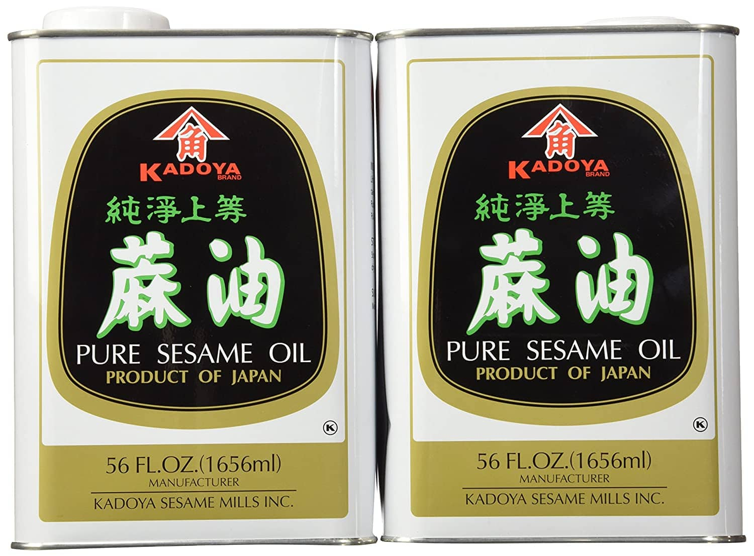 Kadoya Pure Sesame Oil, 56-Ounce Cans (Pack of 2) - $20.08 with Free Shipping with Amazon Prime