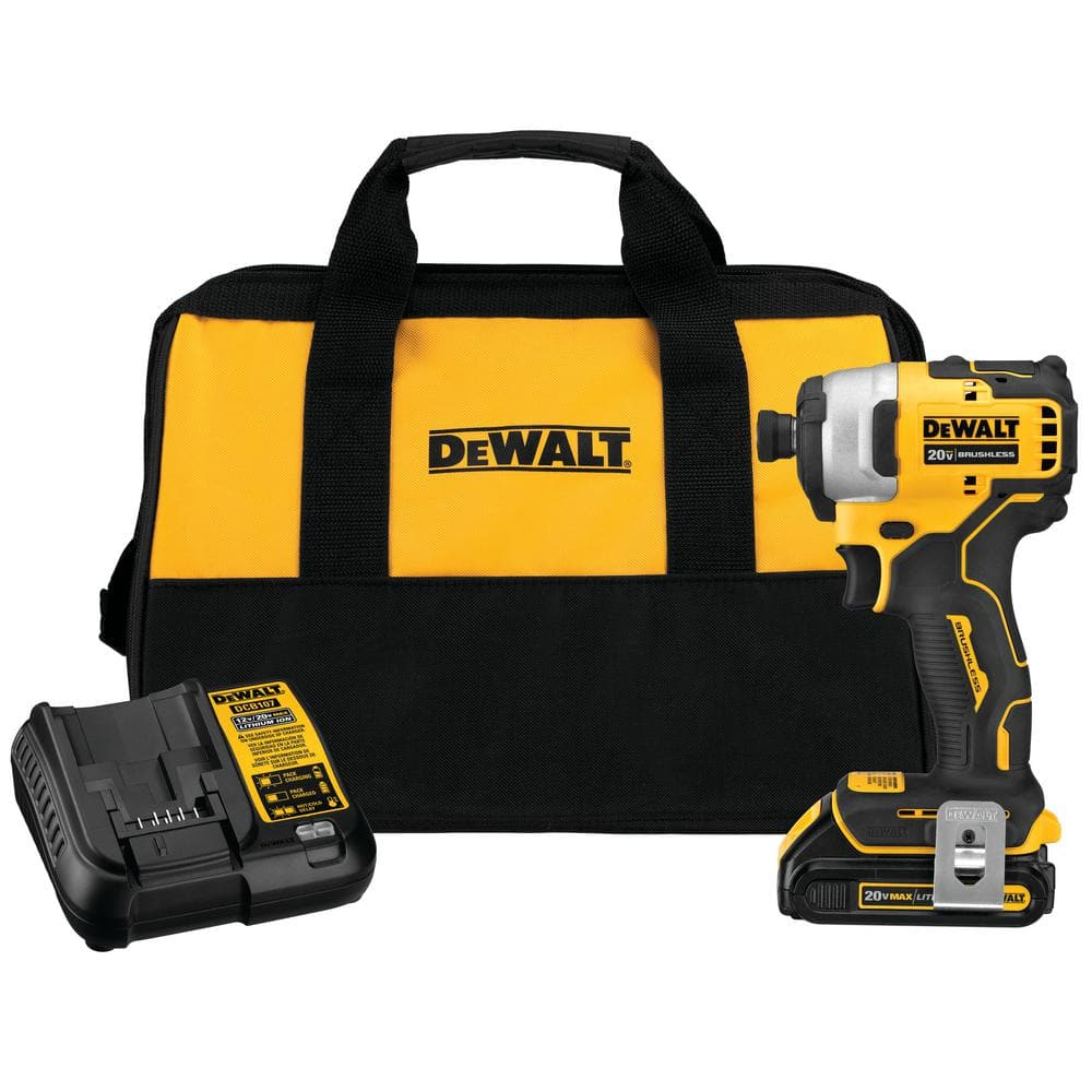 "Dewalt Atomic 1/4"" Impact Driver w/ Battery, Bag & Charger - Home Depot clearance $80 YMMV"