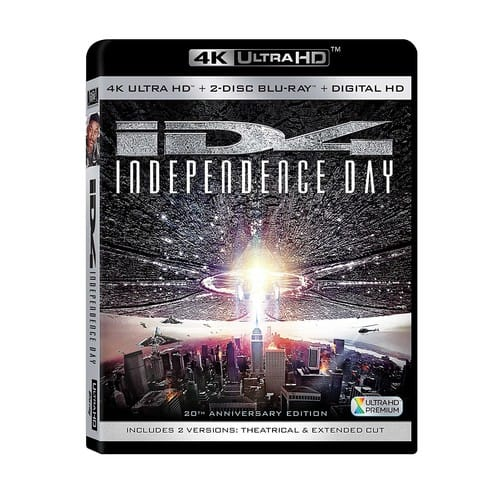 dfb4da504ecd Independence Day UHD 4K Blu-Ray (free shipping with Prime)  14.96 ...