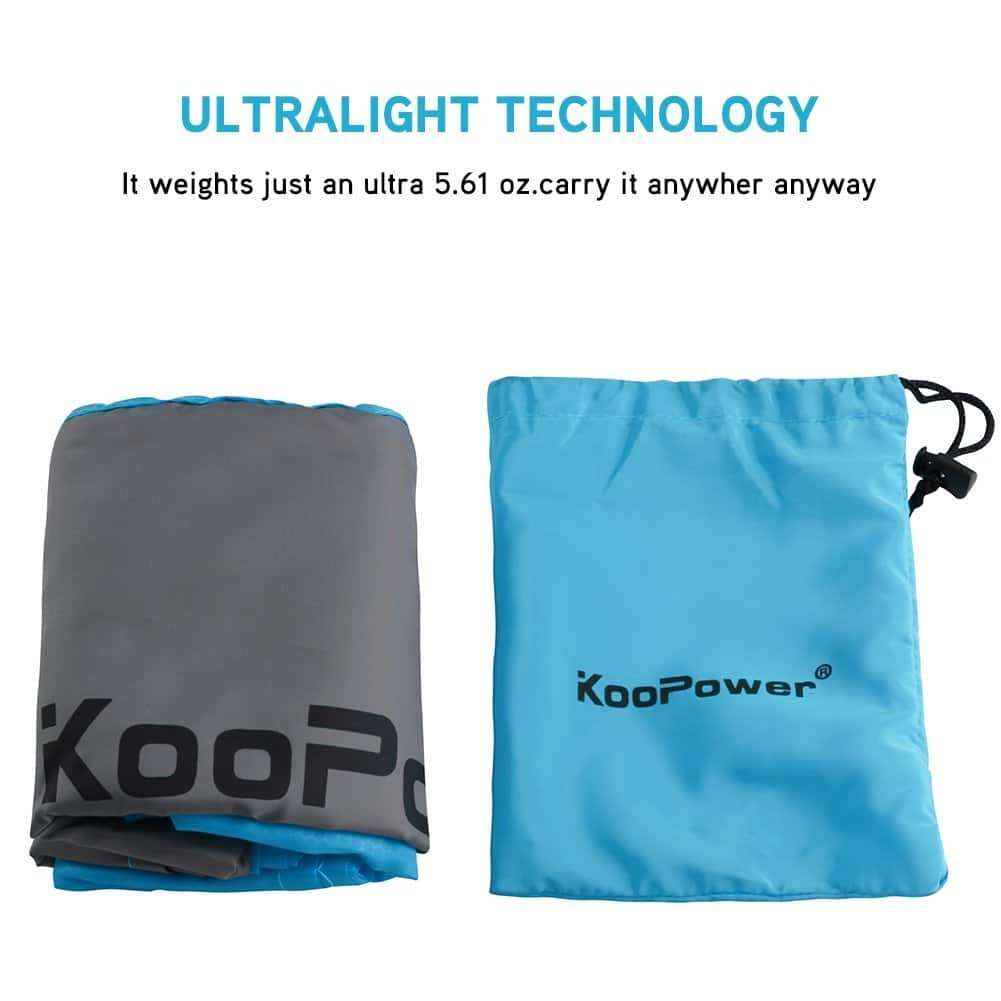 KooPower Compact sand-less Beach/Picnic Blanket - 55″x67″ $10.49