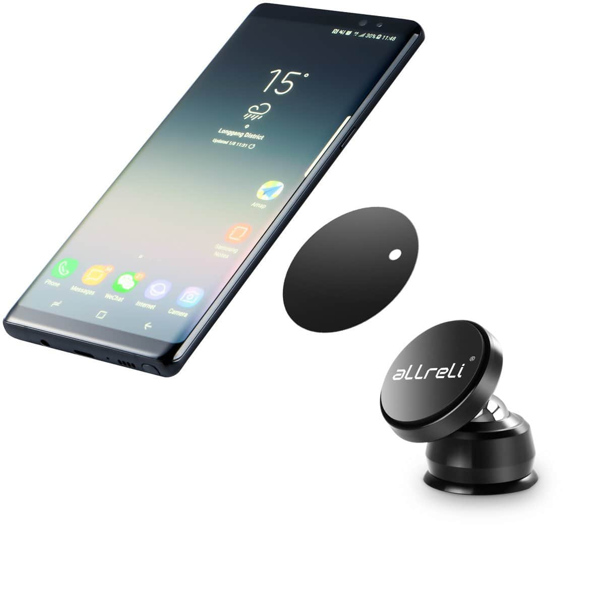 Universal Magnetic Car Mount/Cradle for Smart Phones - 30% off with coupon:  O8AOWZD9 - $7.69