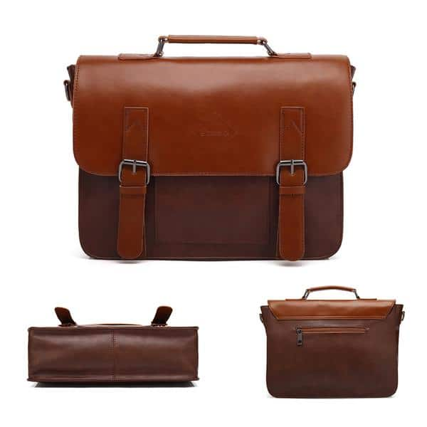 80% OFF Men's Vintage PU Leather laptop Briefcase + Free shipping with code: BIGSALE