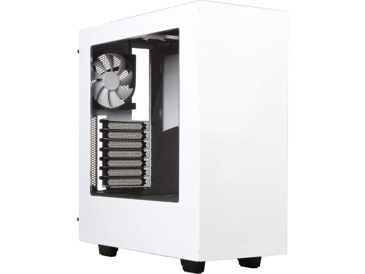 NZXT S340 Glossy White Steel ATX Mid Tower Case $59.99