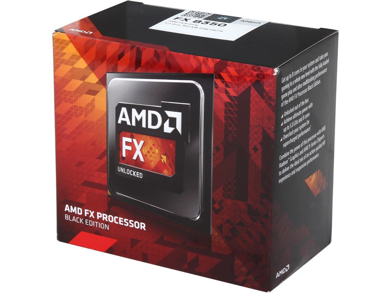 AMD FX-8350 Black Edition Vishera 8-Core 4.0 GHz (4.2 GHz Turbo) Socket AM3+ 125W FD8350FRHKBOX Desktop Processor $109.99