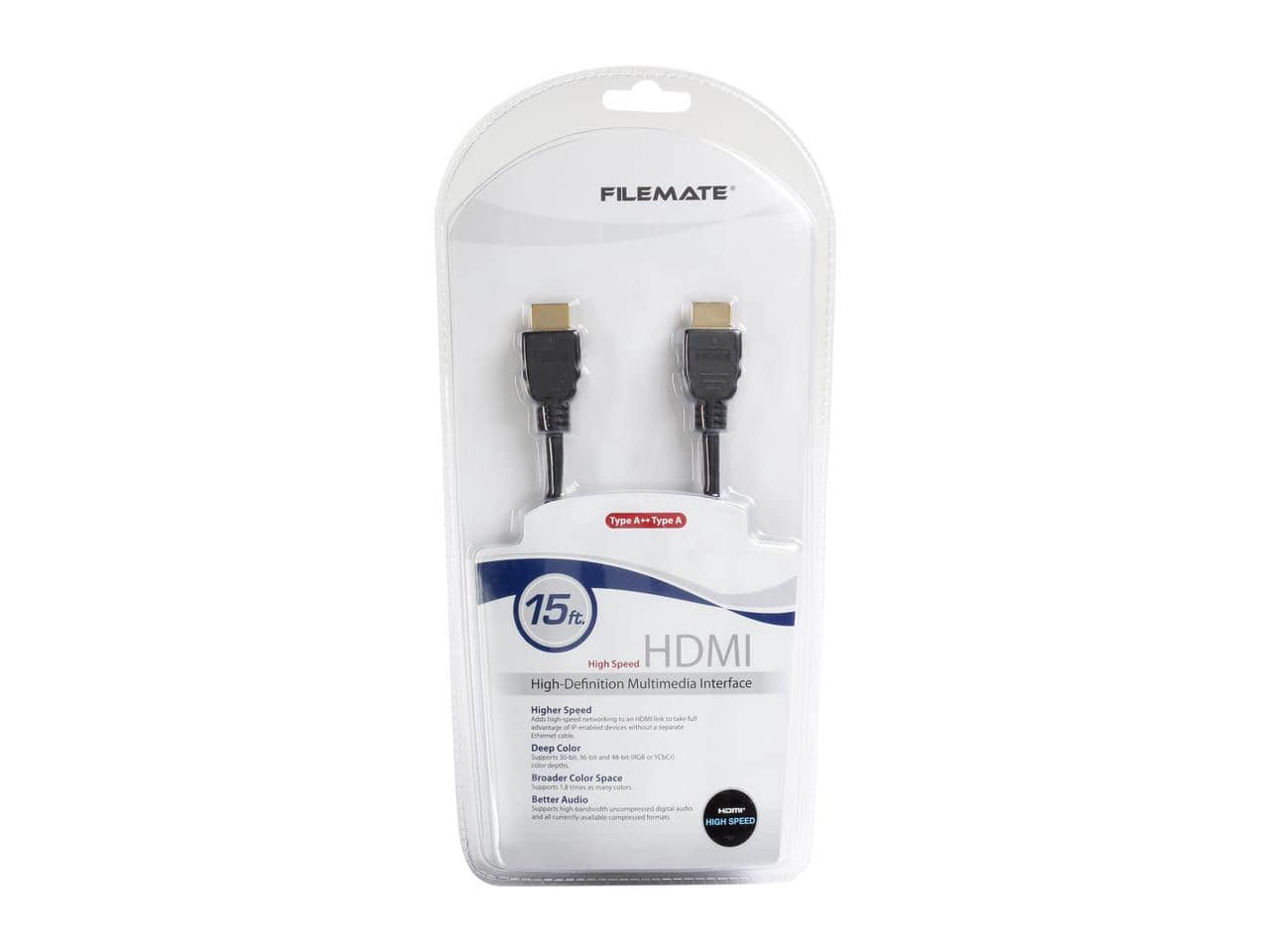 FileMate 15 ft. High Speed HDMI Cable $2.99 + FS