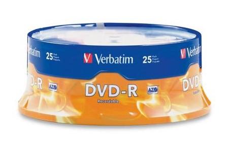 Verbatim AZO 4.7GB 16X DVD-R 25 Packs Disc for $5.59