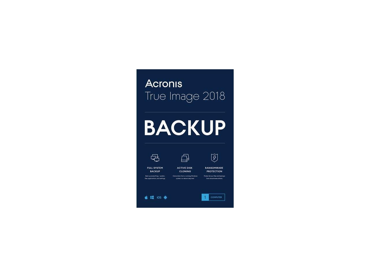 Acronis True Image 2018 + H&R BLOCK Tax Software Deluxe $25