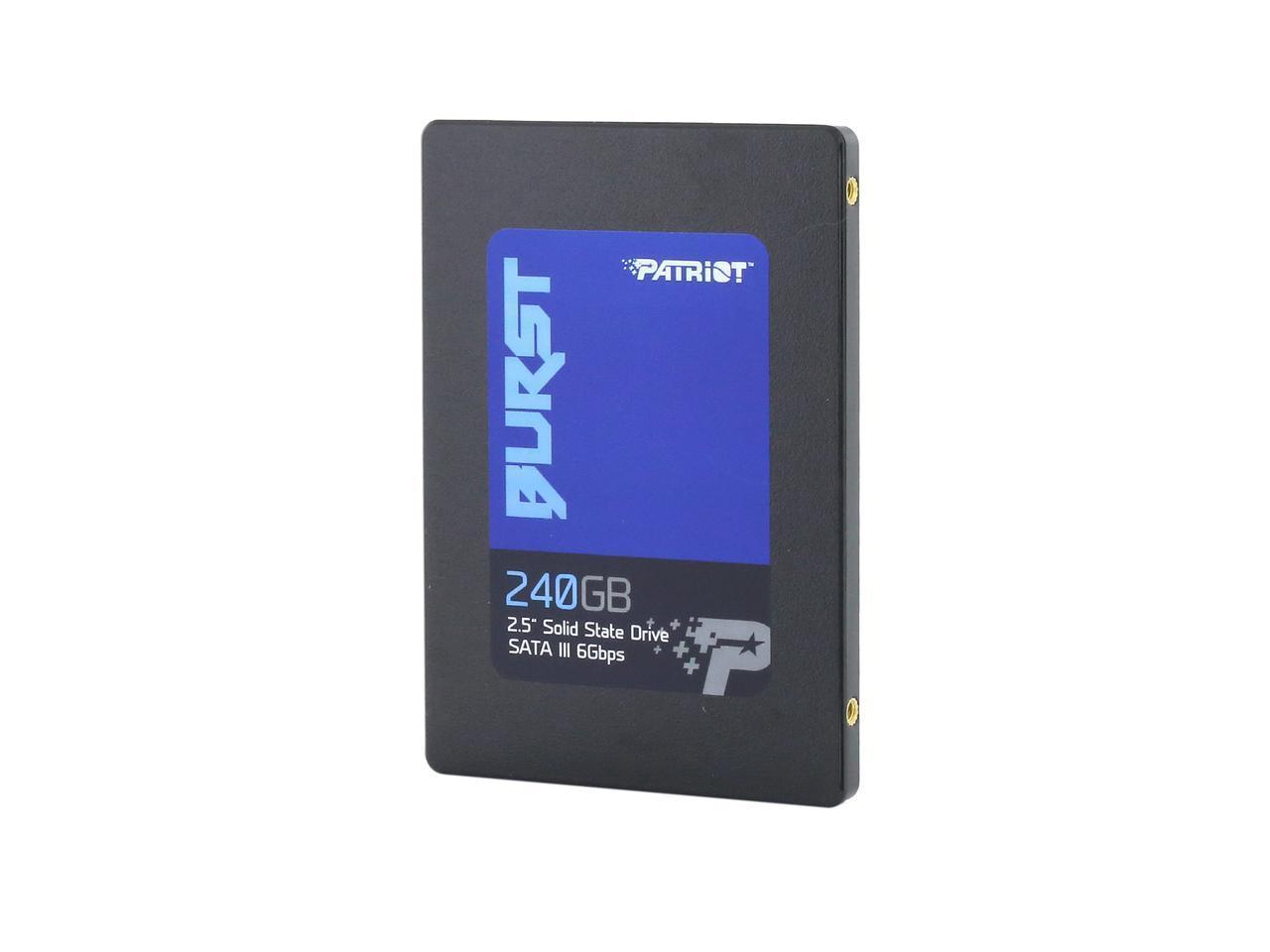 """Patriot Burst 2.5"""" 240GB SATA III Internal SSD $45.99"""
