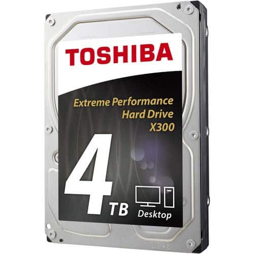 Toshiba X300 4TB Extreme Performance Desktop and Gaming Hard Drive 7200 RPM 128MB Cache $99.99