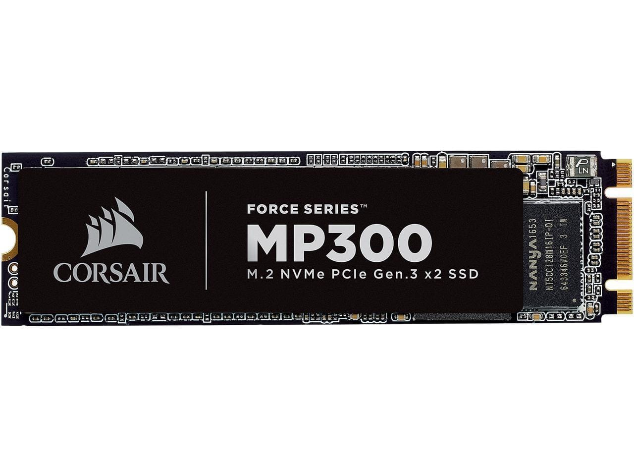 Corsair Force MP300 M.2 2280 120GB PCI-Express 3.0 x2, NVME 1.3 3D TLC Internal Solid State Drive (SSD) $40.99, 240GB $67.99
