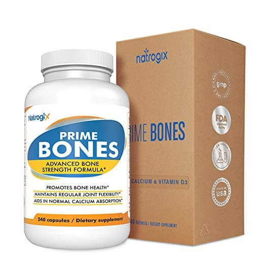 Max Bone Strength Calcium & Magnesium Supplement (240 VCaps) All Natural Bone and Joint Support for $2.60