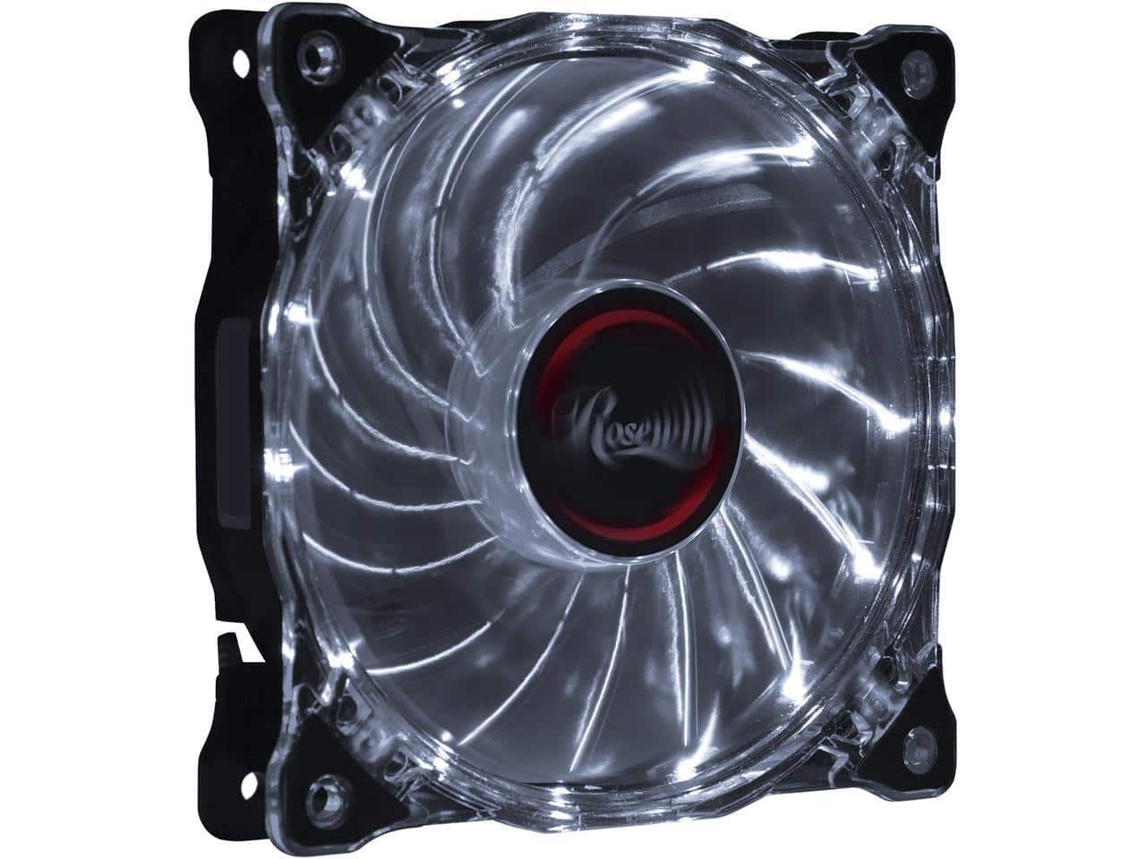 Rosewill 120mm CULLINAN Computer Case Cooling Fan with LP4 Adapter - Semi-Transparent Frame & White LED Lights $  10.99 + $  7 GC