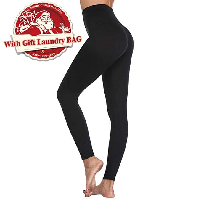 Leggings for Women, Super Soft High Waist Stretchy Workout Yoga Pants with Laundry Bag $6.99 + FS