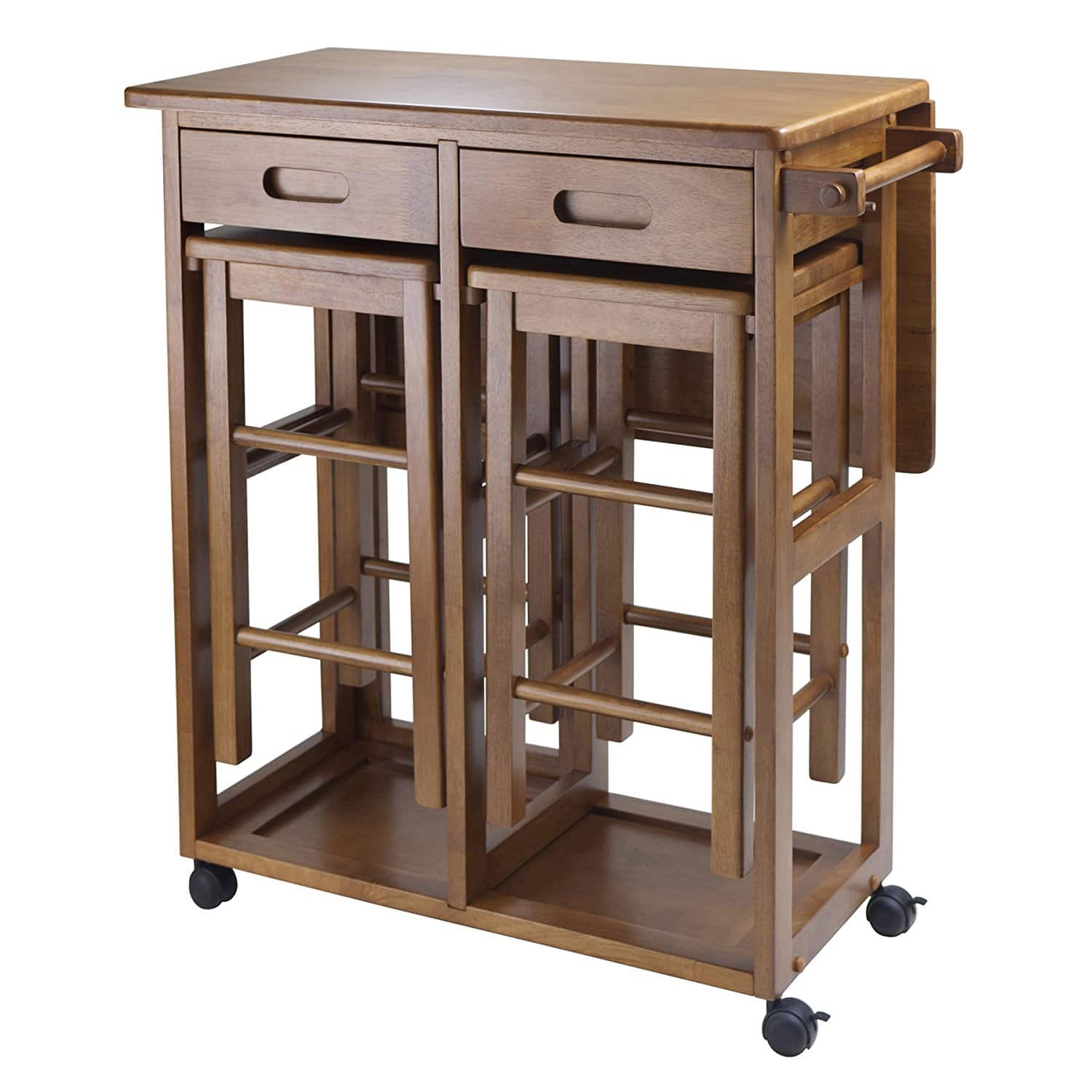 Winsome Space Saver with 2 Stools, Square [Teak, Square] for $109 +FS @ Amazon
