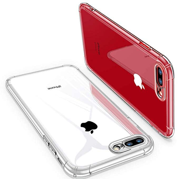cheap for discount a9d5e 1d428 Clear Case with Soft TPU Bumper for iPhone 7/8 Plus, Xs/X @Amazon ...