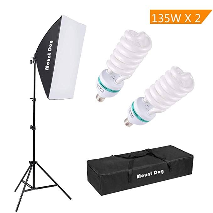 "MOUNTDOG 1350W 20""X28"" Professional Continuous Softbox Lighting Kit $26.99 + Free S/H"