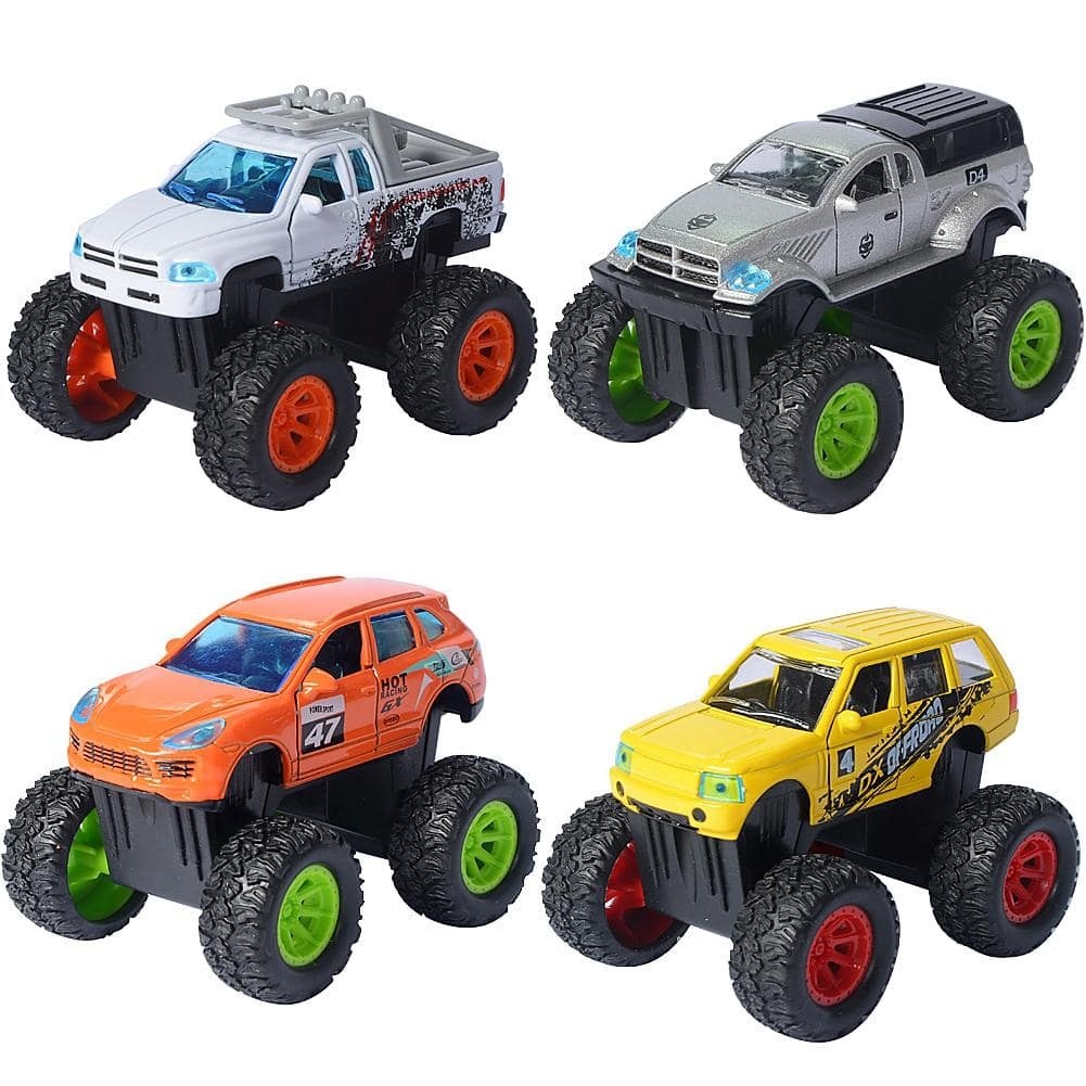 4 Pack Pull Back Mini Vehicles Set for For Kids and Toddlers $6.99 + Free Shipping
