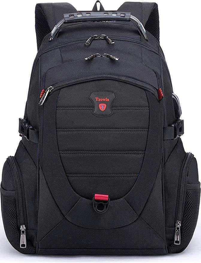 Tzowla 17/18 inch Travel Laptop Backpack w/ TSA Lock & USB Charging Port $29.99 + Free shipping
