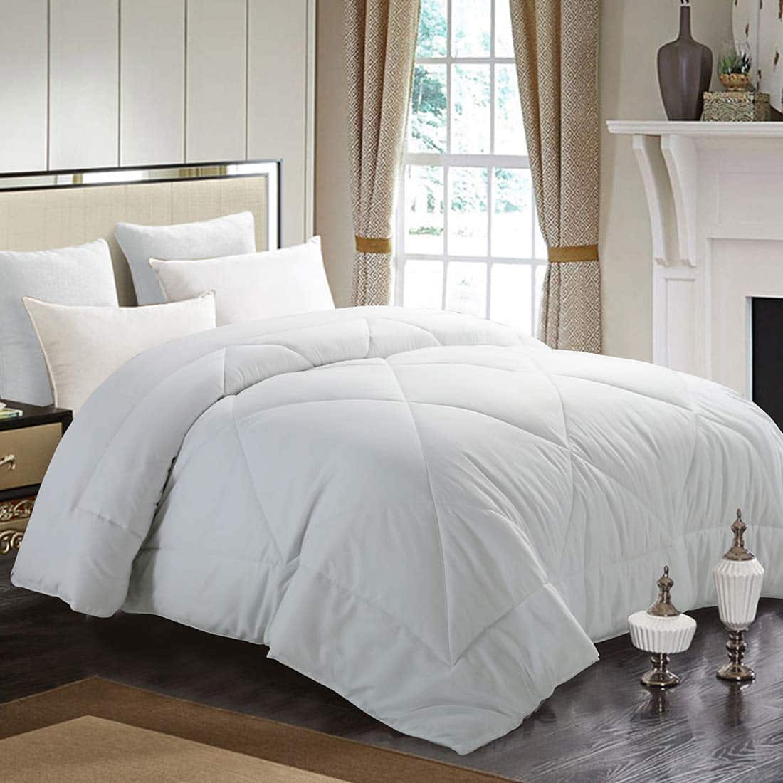 INGALIK All Season Down Alternative Quilted Comforter (Twin or Queen) from $32.19 + free S/H
