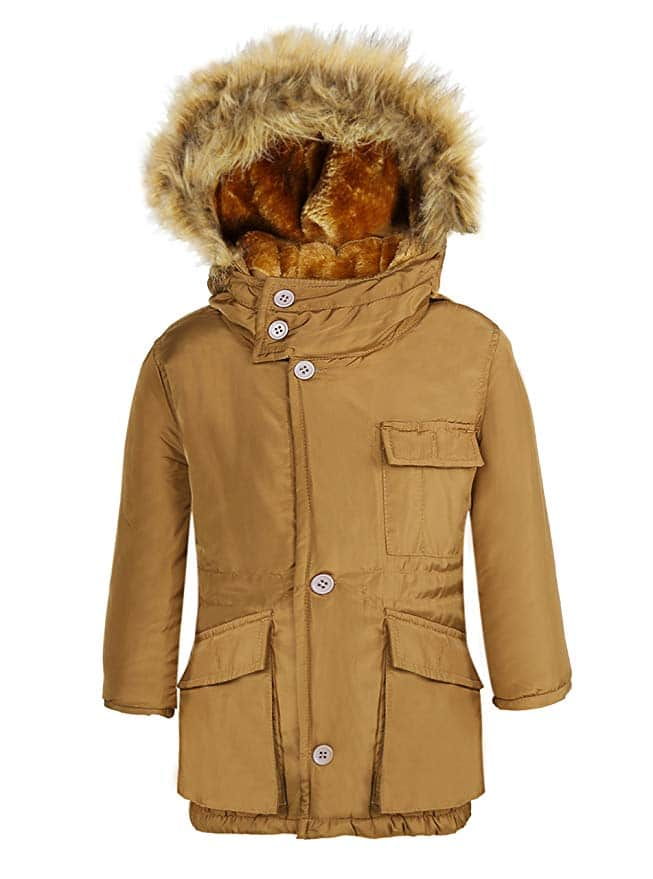Boy's Winter Coats Insulated Jackets with Fleece Lined Hood (various sizes) $20.99 + Free Shipping