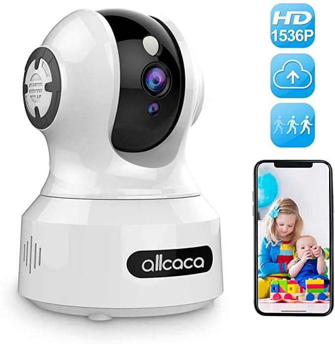 1536P Baby Camera Monitor with Night Vision, Motion Detection and 2-Way Audio $35.19 + Free S/H