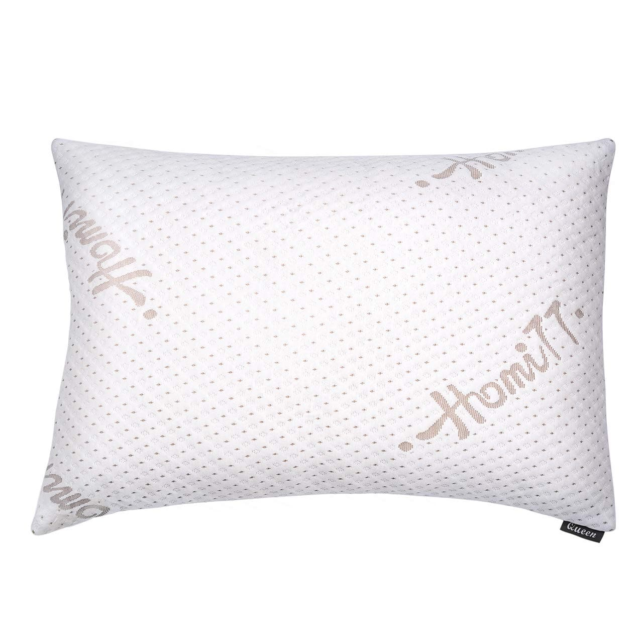 Bamboo Shredded Memory Foam Pillow with Washable and Removable Cover (Queen Size) $17.15