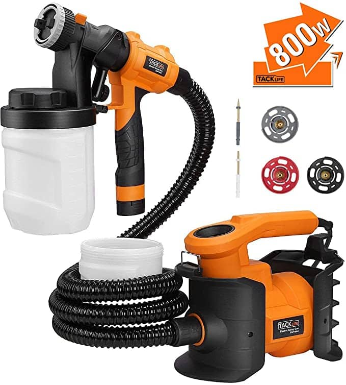 800W HVLP Spray Gun With 1200ml Containers & 3 Nozzle Sizes $37.86 + Free shipping
