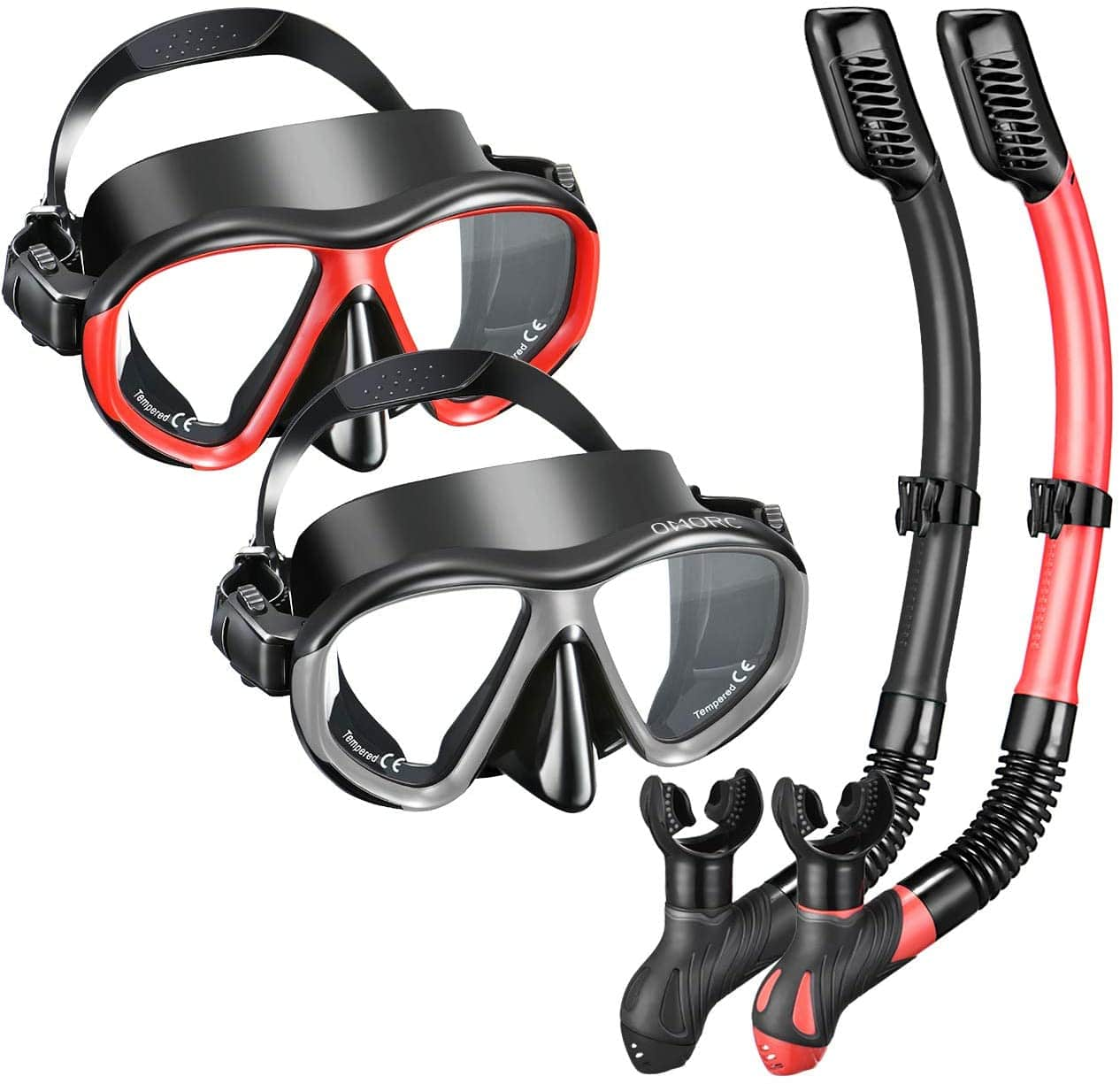 2 Pack OMORC Anti Leak Dry Snorkel Set for Adult $34.99 + Free Shipping