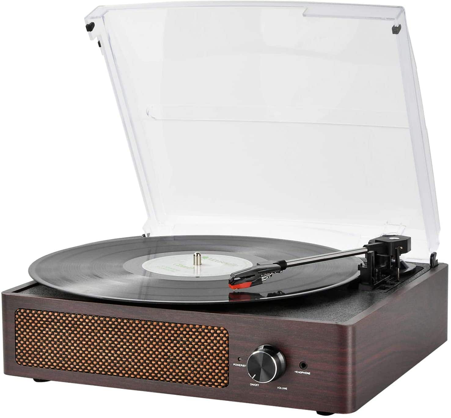 Vintage 3-Speed Bluetooth Turntable with Built-in Stereo Speakers $29.99 + Free Shipping