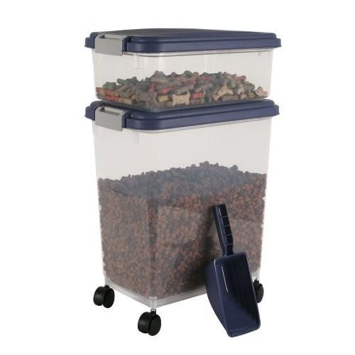 IRIS 3-Piece Airtight Pet Food Container Combo [Various Colors] $16.09 AC @amazon