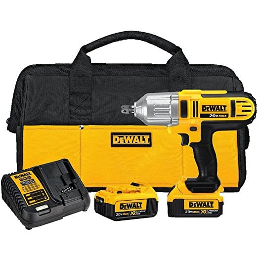 DEWALT DCF889M2 20-volt MAX Lithium Ion 1/2-Inch High Torque Impact Wrench with Detent Pin $199 AC + FS @amazon