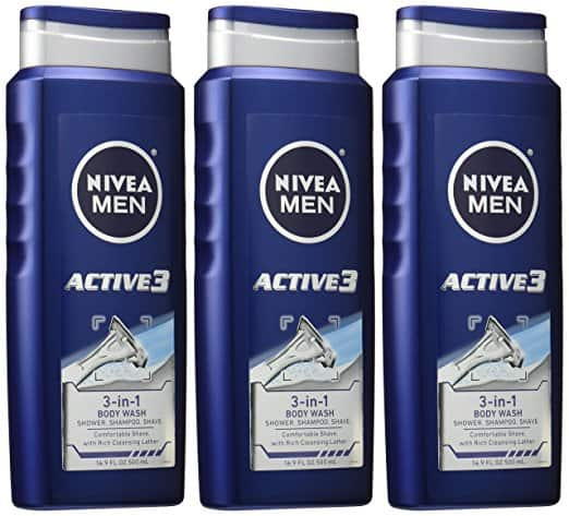 3-Pack of 16.9oz Nivea Men Active3 3-in-1 Body Wash $8.5 w/ S&S + Free S&H