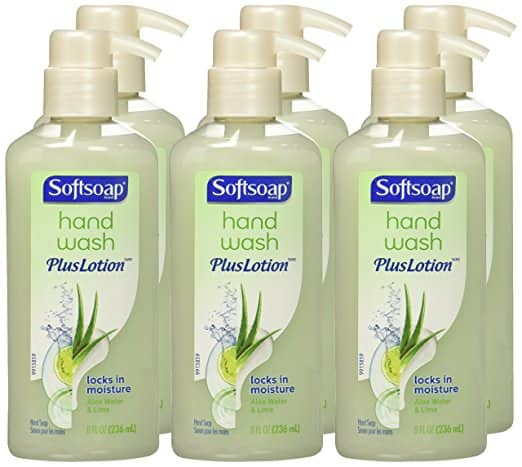 6 Pack Softsoap Hand Wash Plus Lotion Pump, Aloe Water and Lime $7.94 AC + FS with S&S