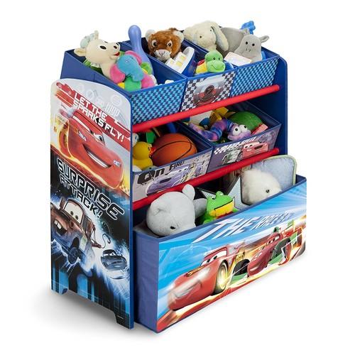Delta Children Multi-Bin Toy Organizer, Disney/Pixar Cars for $26.24 AC + FS @Amazon